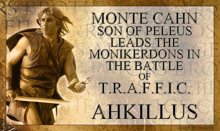 As the battle of TRAFFIC begins, Monte Cahn retreats to base with his trusted warriors