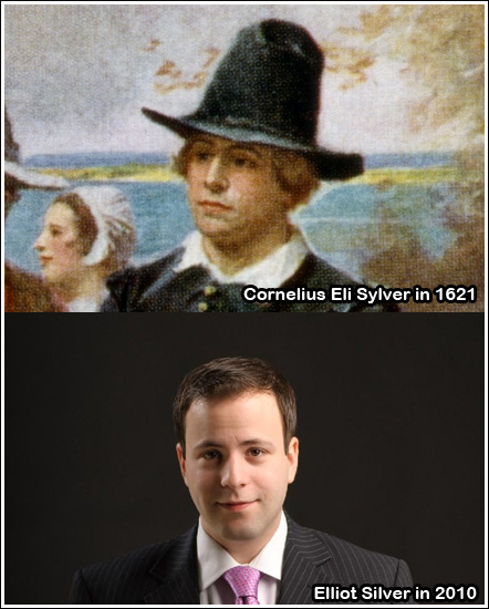 Elliot's Pilgrim ancestor spotted in classic Thanksgiving painting