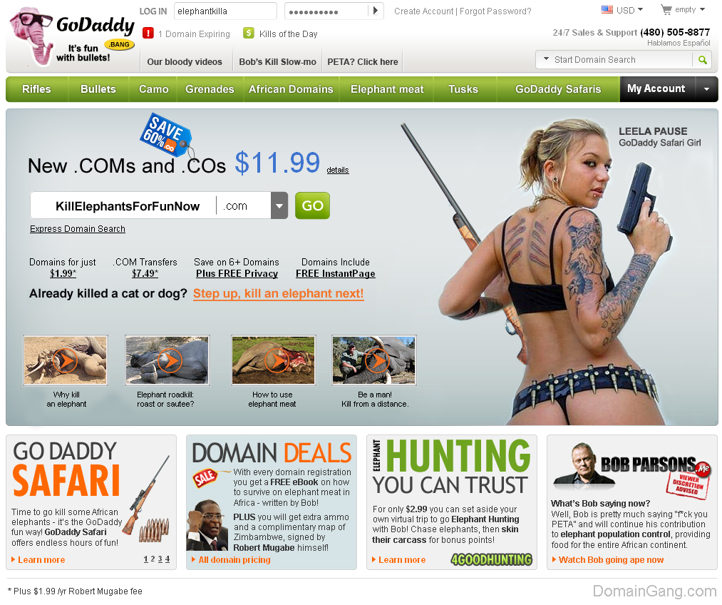 GoDaddy Safari promises Great Thrills for domainers!