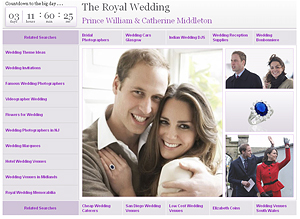 Update: Marchex gets our wakeup call - updates RoyalWedding.com
