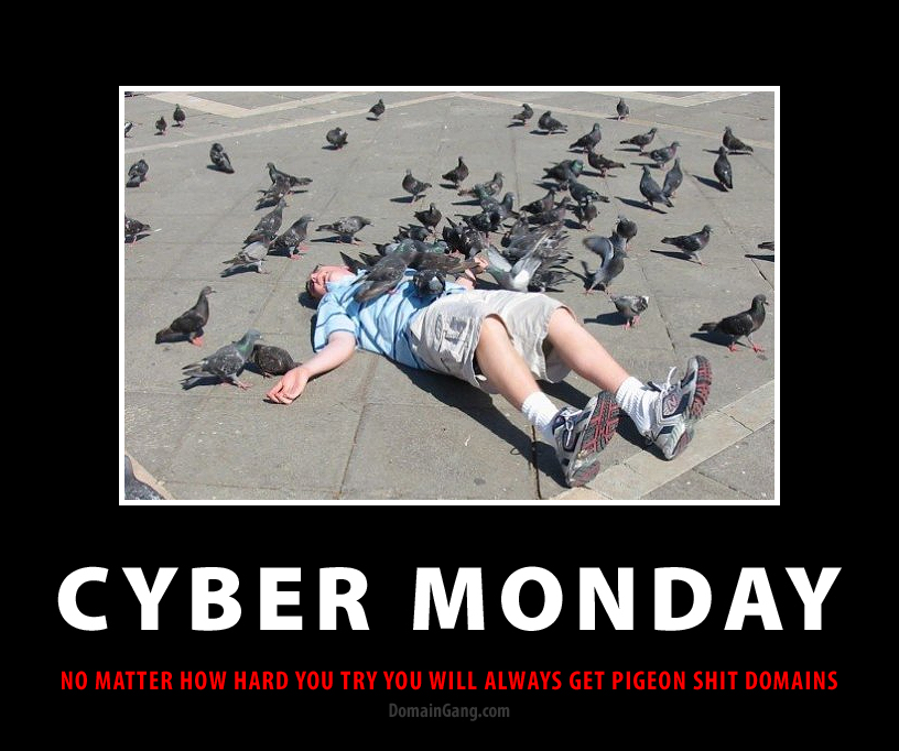 It's Cyber Monday blues for Domainers