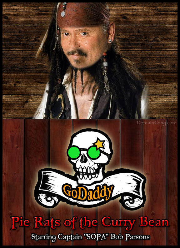 Bob Parsons reveals the new GoDaddy logo after SOPA fiasco