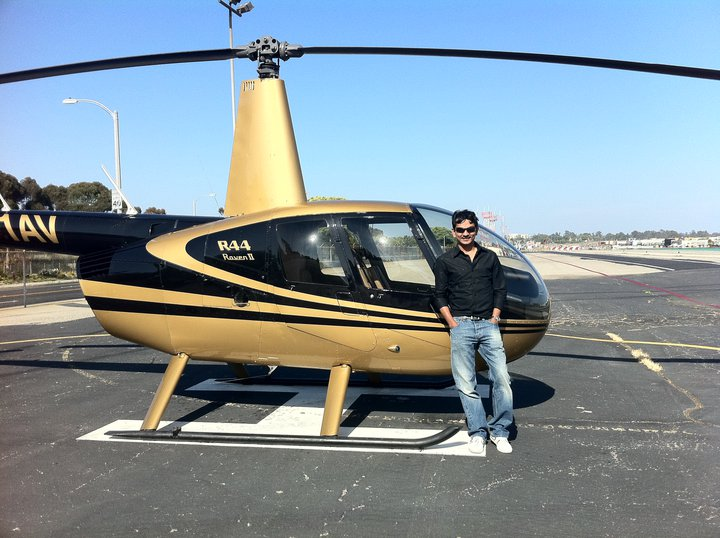 Divyank flies helicopters as well.