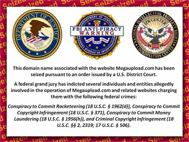 FBI takes over Megaupload.com