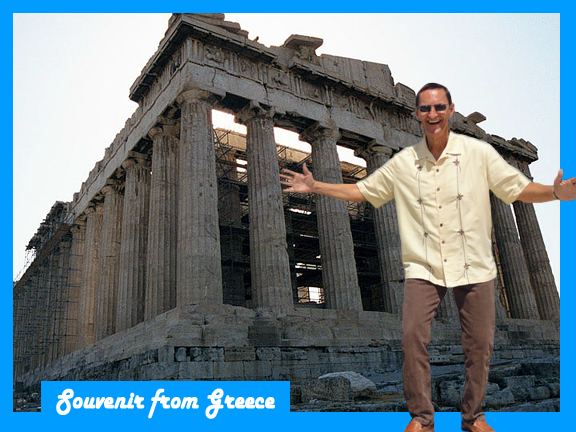 Ron Jackson at the Acropolis.