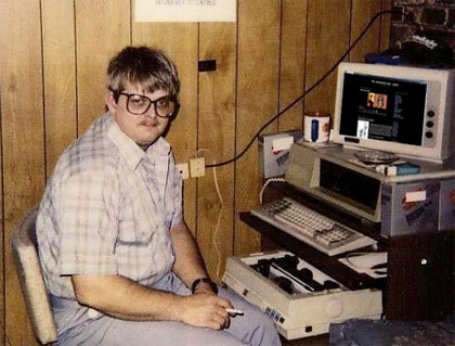 A typical webmaster from the 1990's.