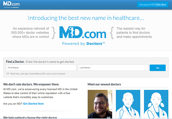 Top medical acronym 'MD.com' launches in New Orleans
