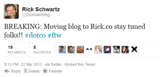 Big Friday news: Rick's new blog location