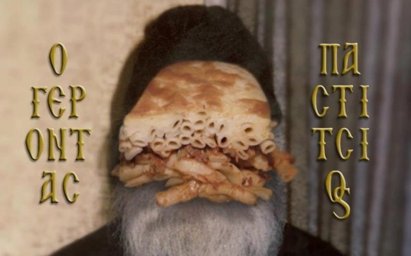 Pastitsios the Elder - a monk / food parody combo.