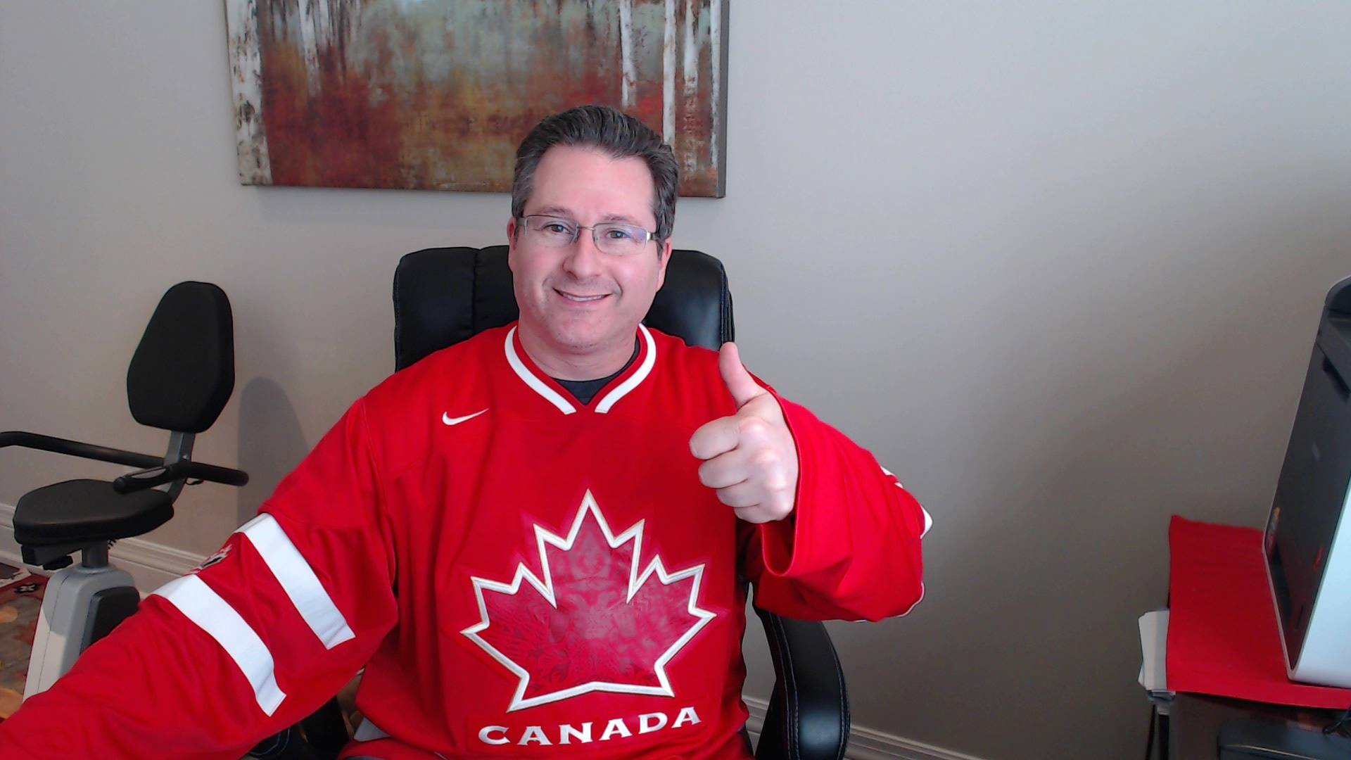 O, Canada! USA loses crucial hockey game, Adam Dicker parties on!