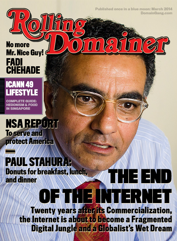 Rolling Domainer: Special ICANN 49 issue about Globalism, NSA and the Internet