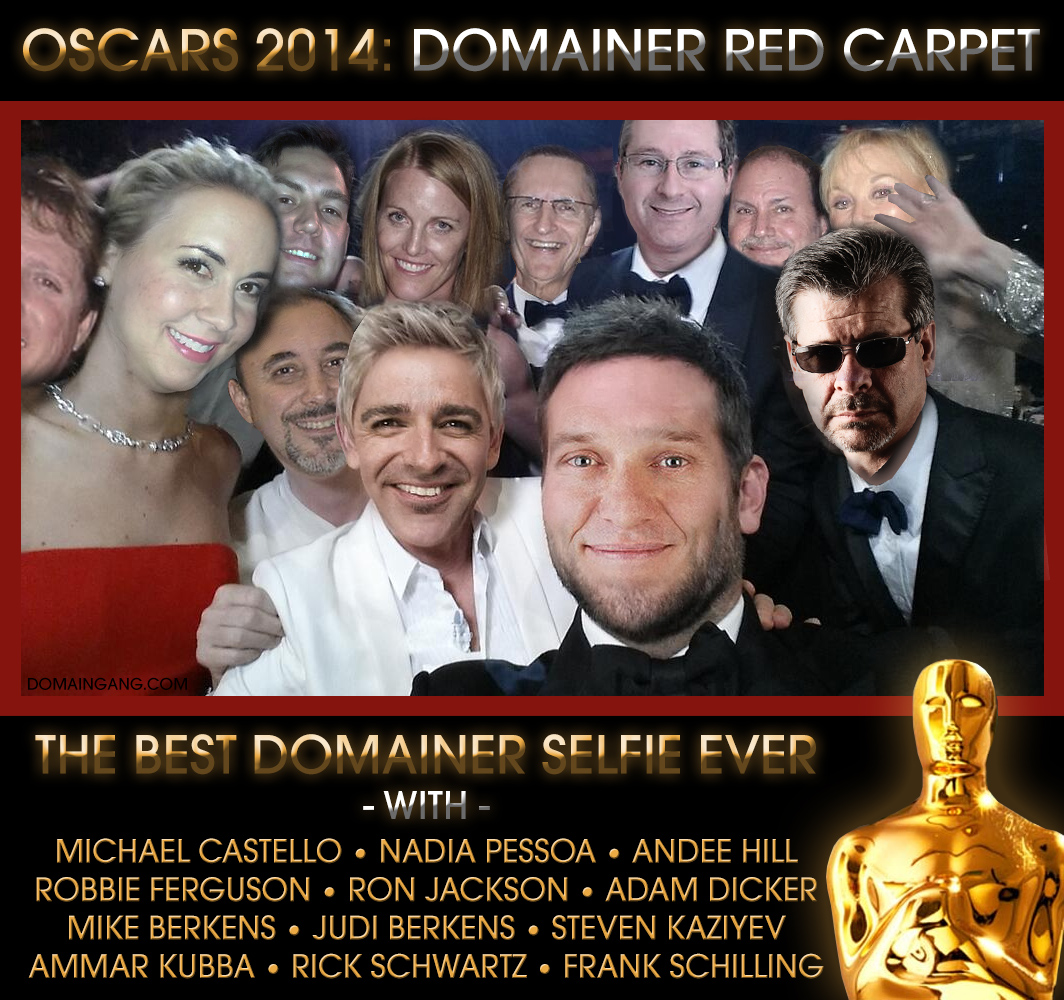 Oscars 2014 - Domainer Red Carpet - CLICK TO ENLARGE.