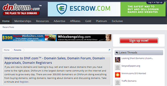 DNForum: Popular domain forum built on XenForo 'steroids'