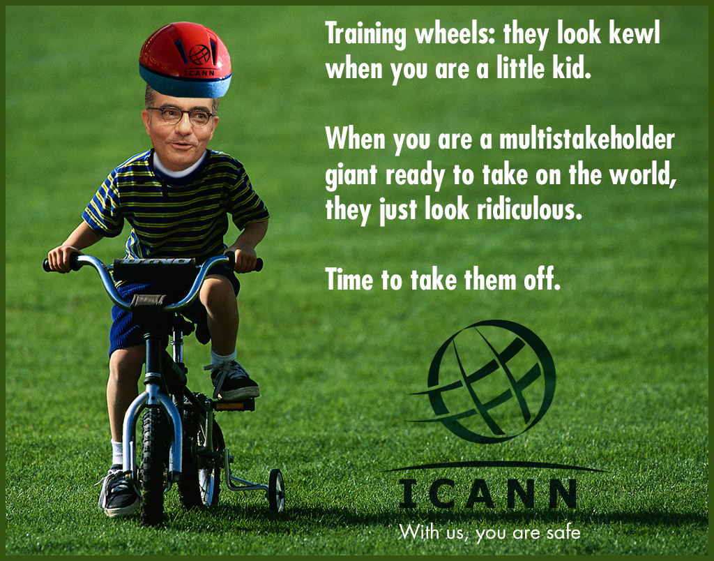 ICANN: 'Training wheels off' in a new global Internet governance advertisement