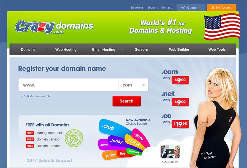 Crazy Domains.