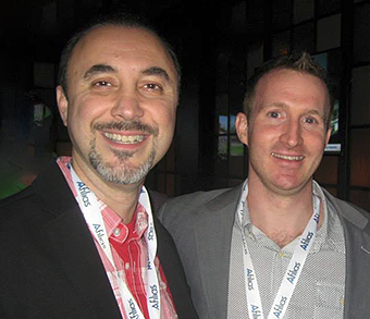 Steven Kaziyev of YourBrand - With Mike Robertson of Domain Guardians.