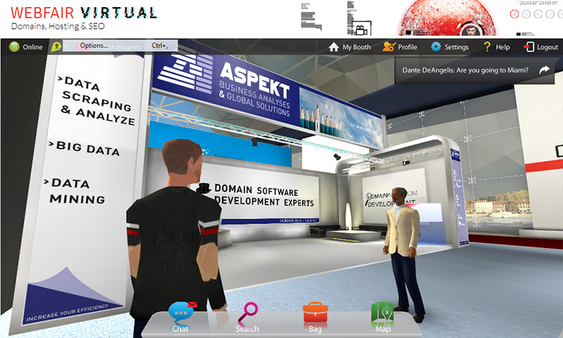 At the Aspekt booth.