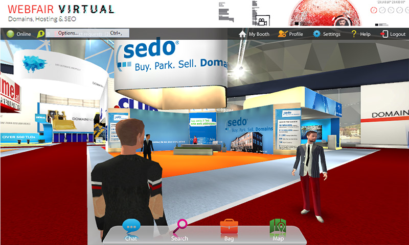 At the Sedo booth.