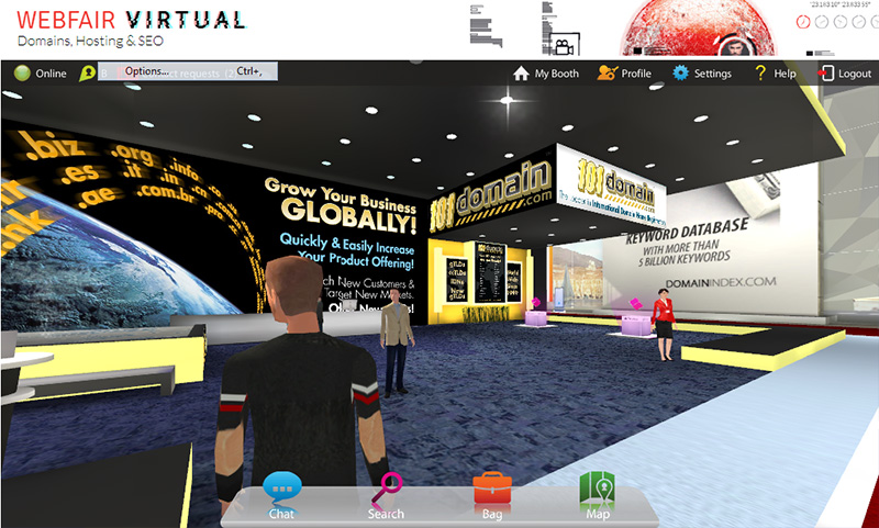 At the 101Domain booth.