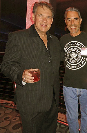 Howard Neu with fellow WWF player, Mike Mann.