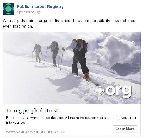 "PIR claims dot .ORG domains convey ""trust."""