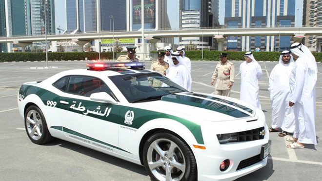 Police uses exotic sports cars in Dubai.