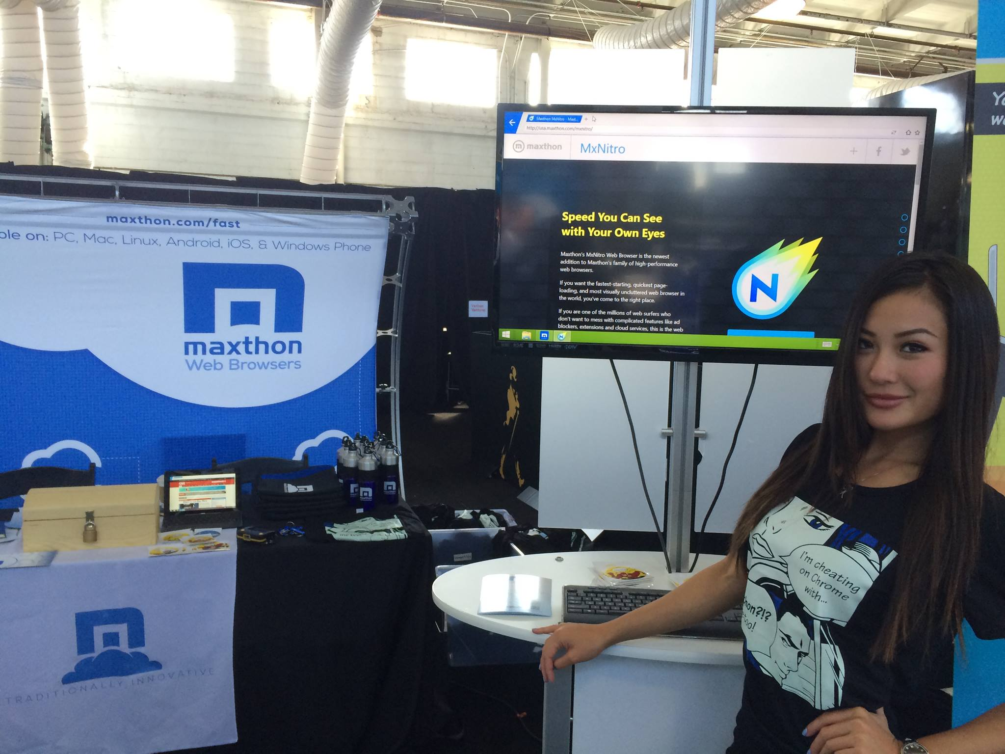 Maxthon at a recent expo. It's fast!
