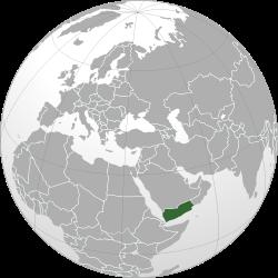 Yemen on the map.