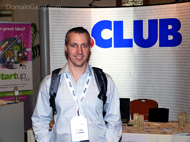 Sean Stafford of Bounce.io with his head up the .CLUB dot.