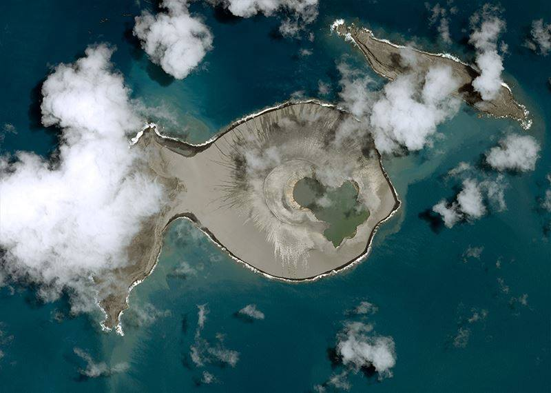 The Tonga island of Wapa Lau formed from a volcano.