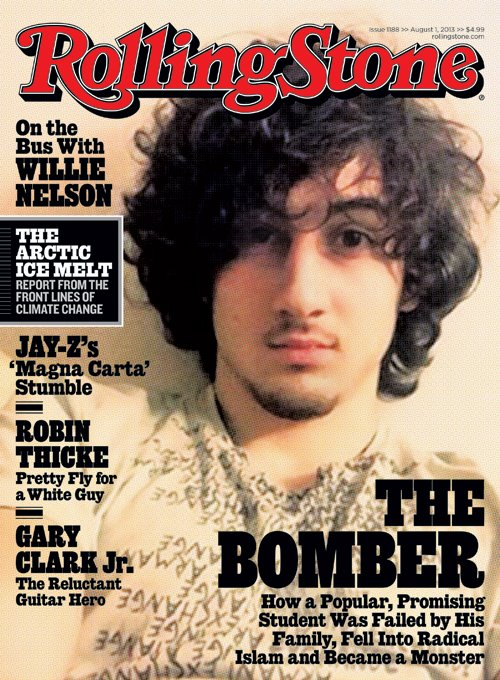 Rolling Stone cover depicting the Boston Bomber.