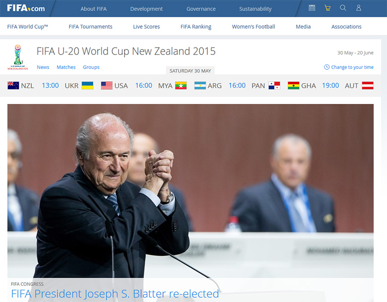 FIFA president, Joseph S. Blatter just got re-elected.