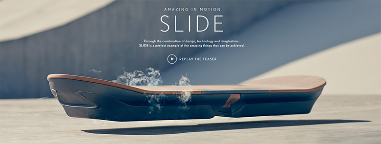 Lexus hoverboard : The Slide.