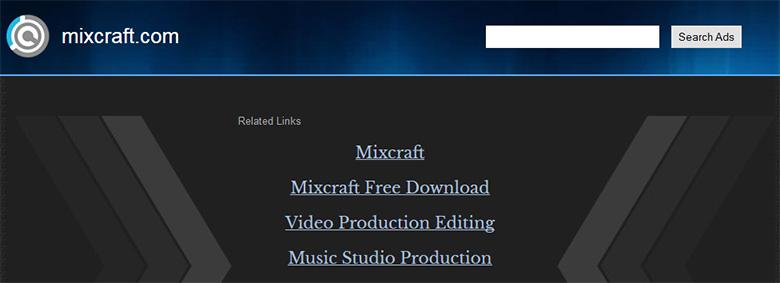 Mixcraft.com parked page.
