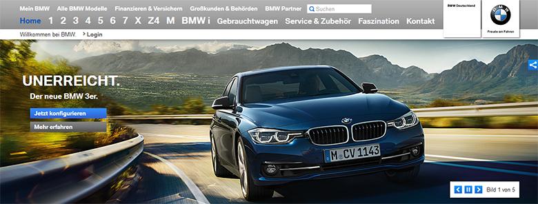BMW.de in Germany.