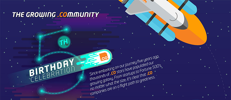 Dot .CO Community Infographic - Click to view.