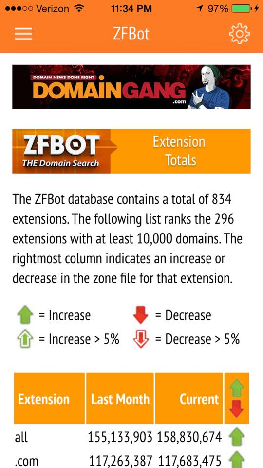 ZFBot search app.