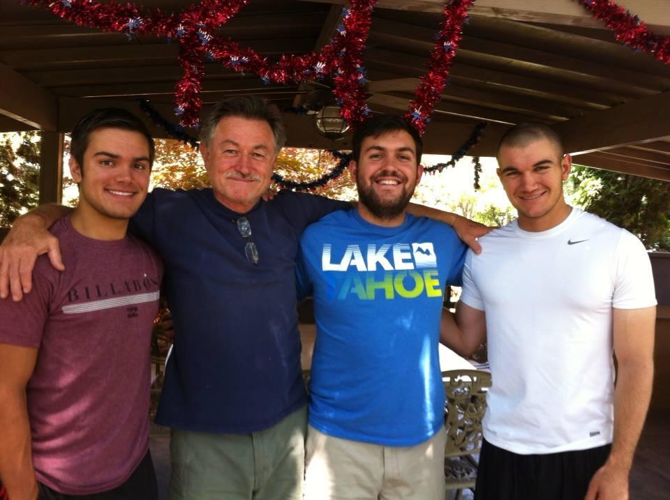 Proud father, Emanuel Skarlatos with sons Solon, Peter and Alek.