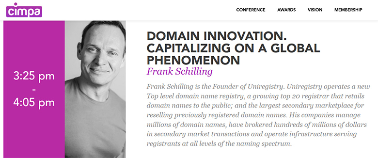 Frank Schilling will speak at the CIMPA event.