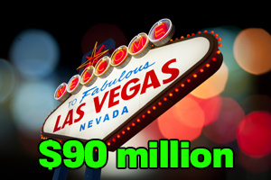 LasVegas.com sold for $90 million.