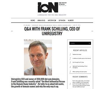 Frank Schilling, Uniregistry CEO.