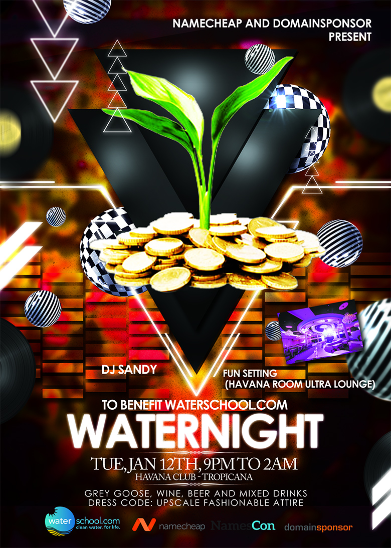 Waternight 2016 during NamesCon.