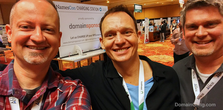 Uniregistry founder, Frank Schilling, with fans during NamesCon.