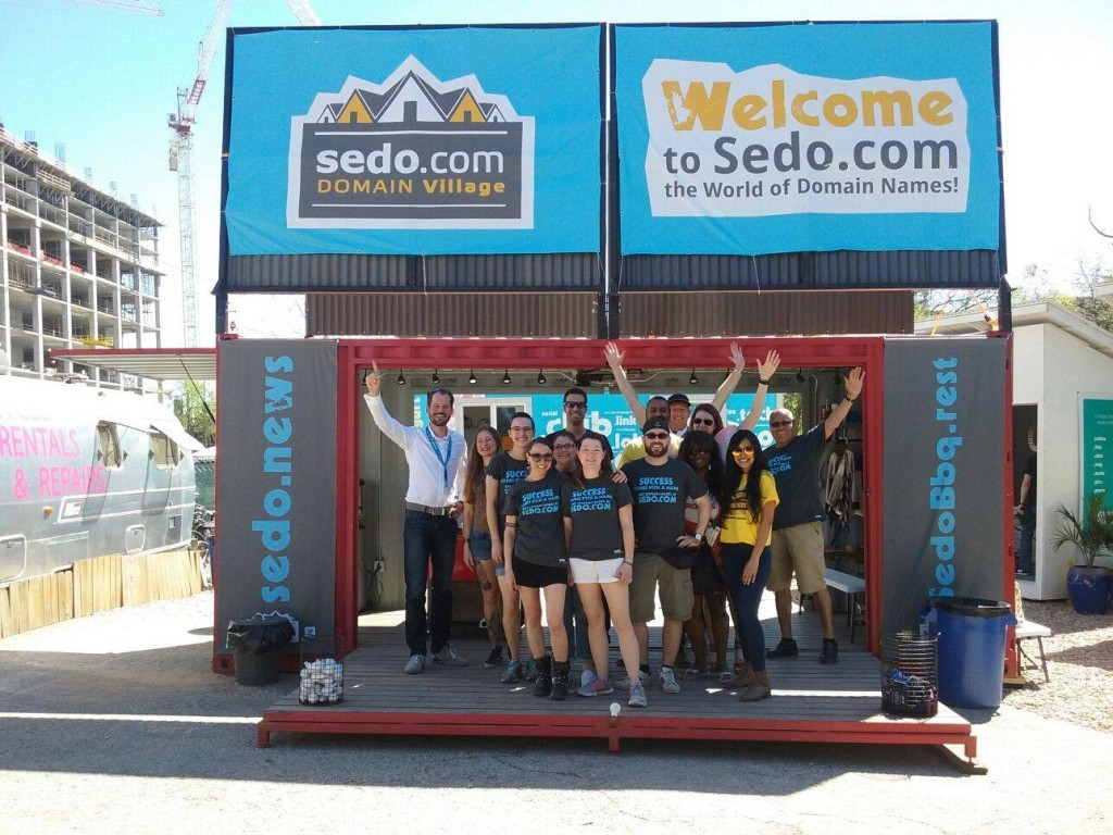 The Sedo Domain Village during SXSW 2016.