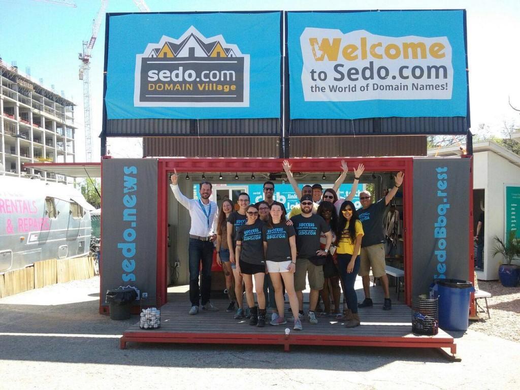 The Sedo Domain Village during SXSW 2016.