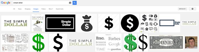"""Simple dollar"" images via Google."