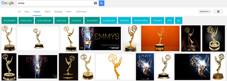 Emmy results in Google.