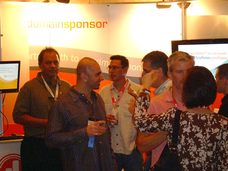 The DomainSponsor booth during TRAFFIC 2008 in Orlando, FL