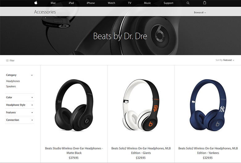Beats headphones by Beats Electronics, LLC - an Apple owned company.