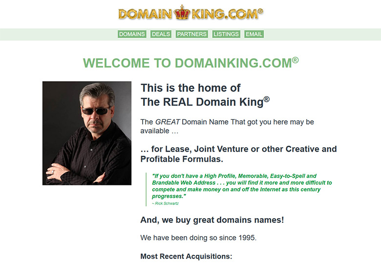 The real Domain King, Rick Schwartz.